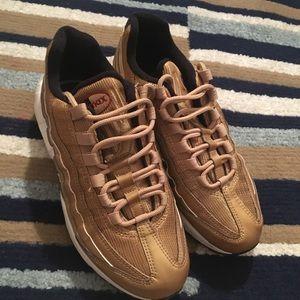 Gold Air Max 95s